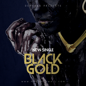 Black Gold CD Cover Template