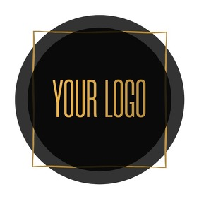 Black Gold Minimal Logo Template