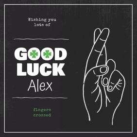 Black Good Luck Wish Square Video
