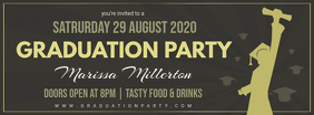 Black Grad Party Invitation Banner