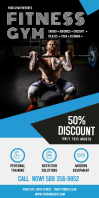 Black Gym Roll up Banner template