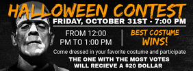 Black Halloween Contest Facebook Cover Photo
