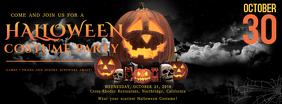 Black Halloween Facebook Cover template