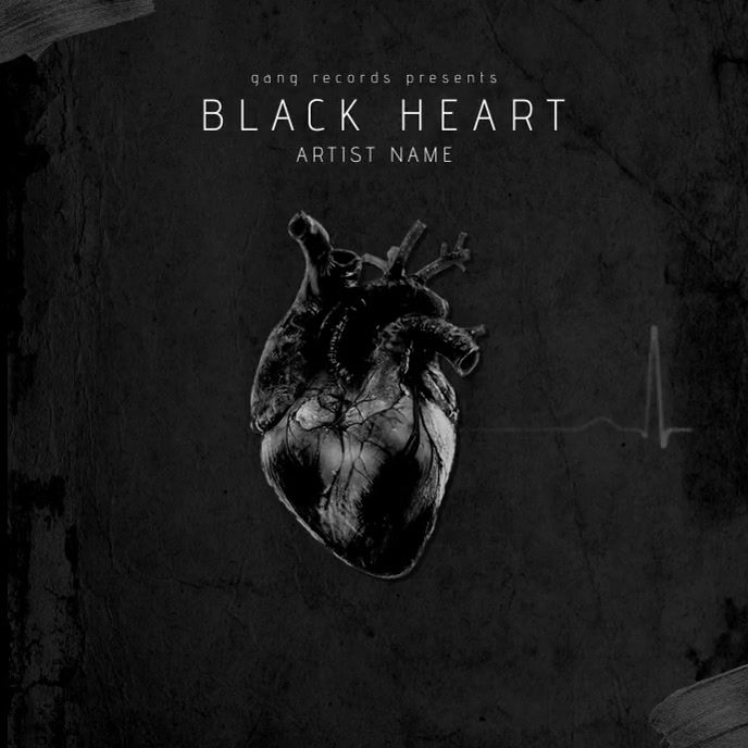 Black Heart - Album Cover Template