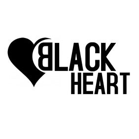 black heart minimal logo