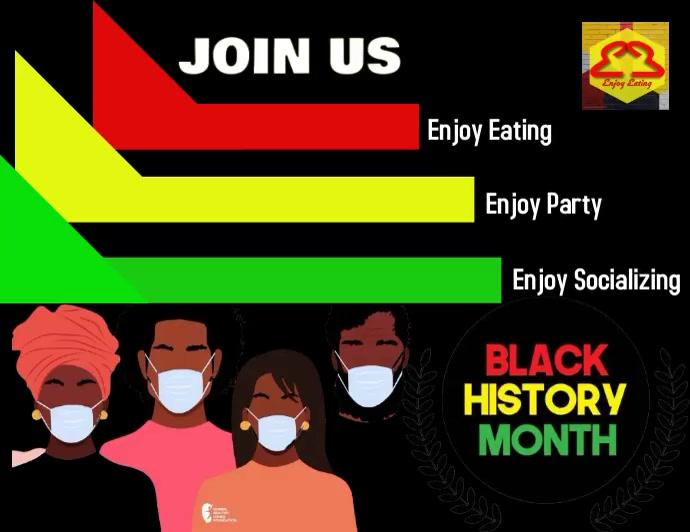 BLACK HISTORY - #1 Pamflet (Letter AS) template