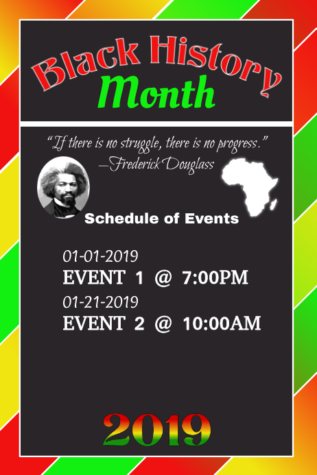 Black History 2 Poster template