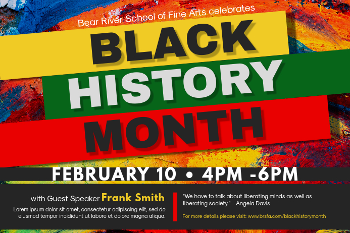 Black History Art Institute Event Poster