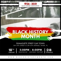 Black History Association BHM Instagram Video template