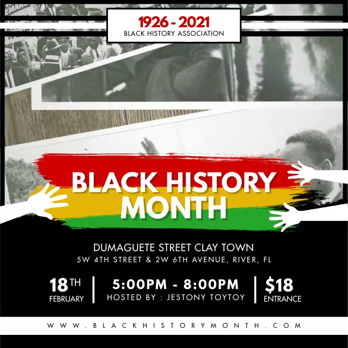 Black History Association BHM Instagram Video Instagram-opslag template