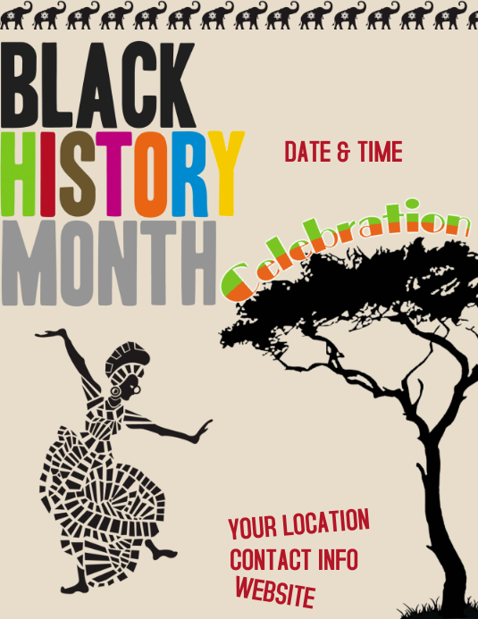 Black History Celebration Flyer (US Letter) template