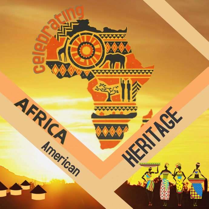 Black History Celebration Vierkant (1:1) template