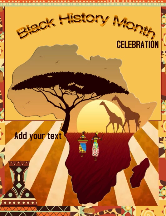 Black History Celebration Pamflet (Letter AS) template