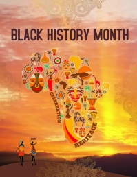 Black History Celebration Ulotka (US Letter) template