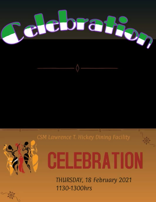 Black History Celebration Pamflet (Letter AS) template