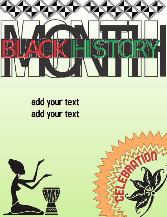Black History Celebration Løbeseddel (US Letter) template