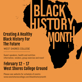 Black History College Event Invitation