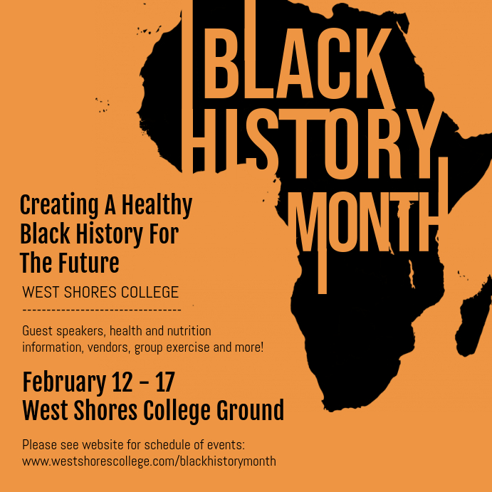 Black History College Event Invitation