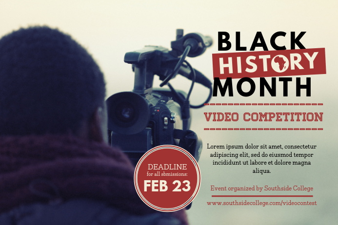 Black History Competition Event Poster