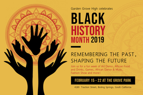 Black History Cultural Event Poster Póster template