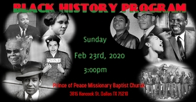 Black History Gambar Bersama Facebook template