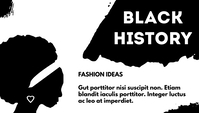 Black History Blog overskrift template