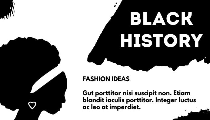 Black History Blog Header template