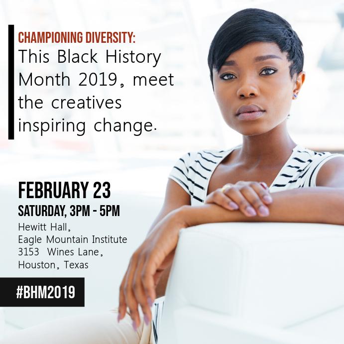 Black History Diversity Event Ad