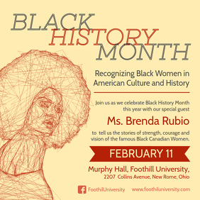 Black History Event Announcement Sepia