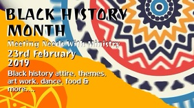 Black History Event Promo Video Template Digitale Vertoning (16:9)