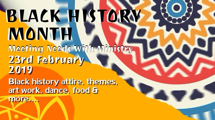 Black History Event Promo Video Template Digitalt display (16:9)