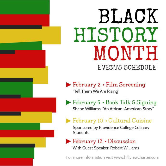 Black History Event Schedule Instagram Post