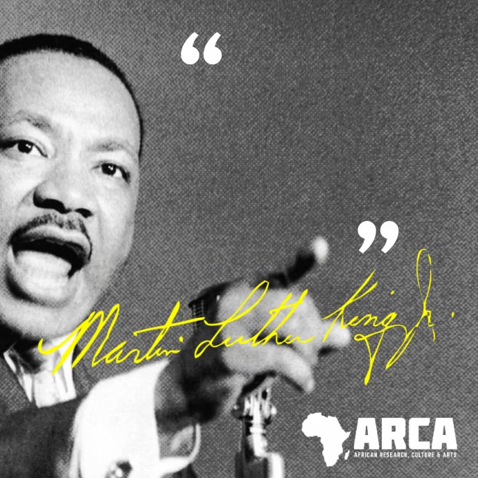 Black History Martin Luther King Quote Kvadrat (1:1) template
