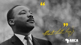 Black History Martin Luther King Quote Digitale Vertoning (16:9) template