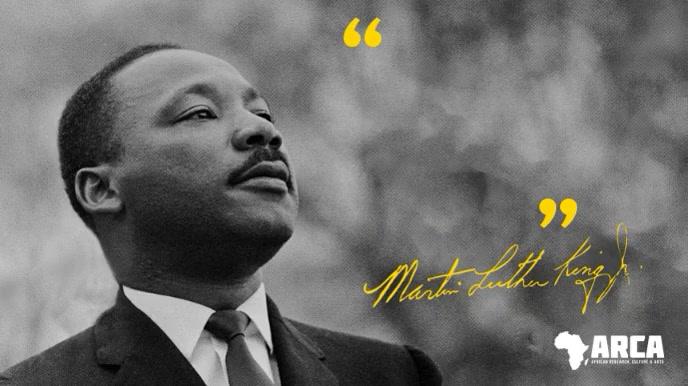Black History Martin Luther King Quote Digitalt display (16:9) template