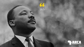 Black History Martin Luther King Quote Video Digital na Display (16:9) template