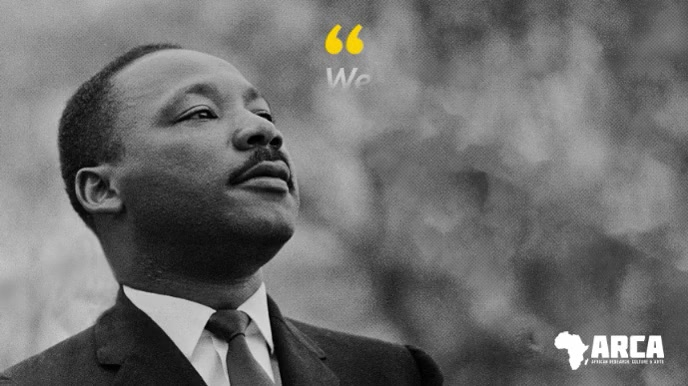 Black History Martin Luther King Quote Video Digitale display (16:9) template