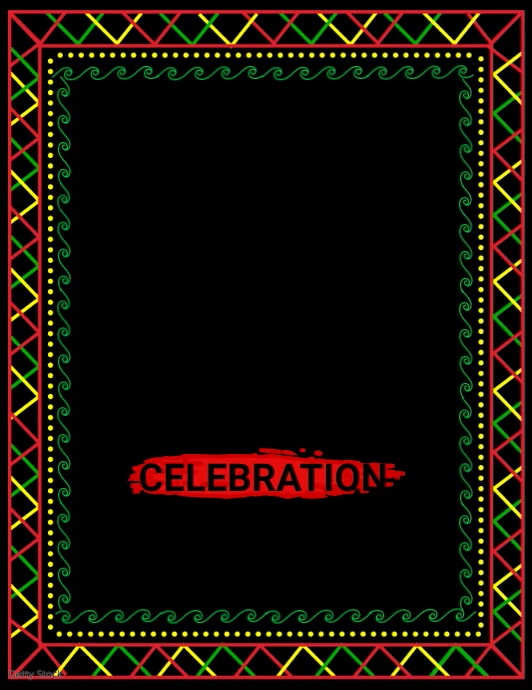 black history month, african american history Løbeseddel (US Letter) template