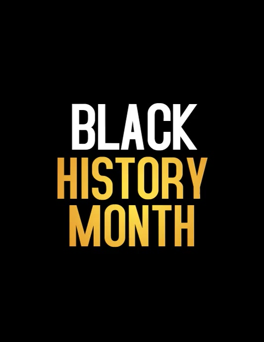 black history month, african american history Flyer (US Letter) template