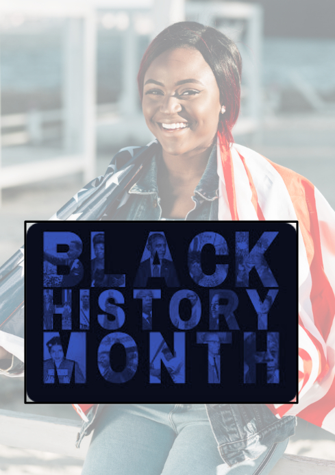 BLACK HISTORY MONTH, BLACK A4 template