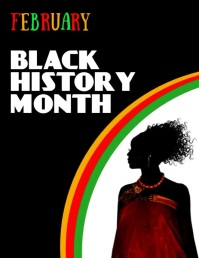 Black History Month, Black History Volantino (US Letter) template