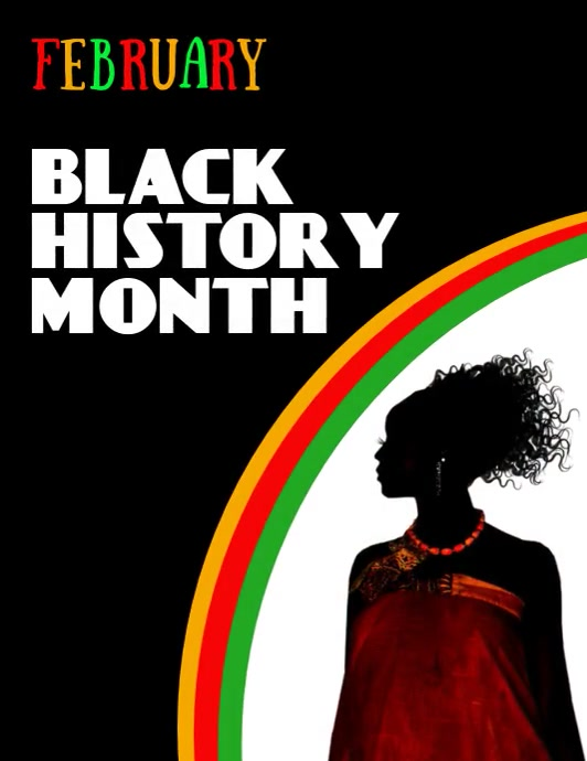 Black History Month, Black History Flyer (US Letter) template