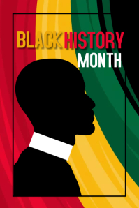 black history month, event Poster template