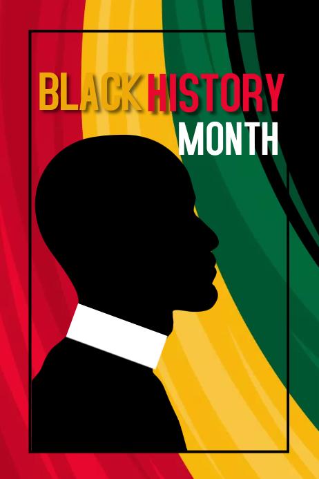 black history month, event Plakat template