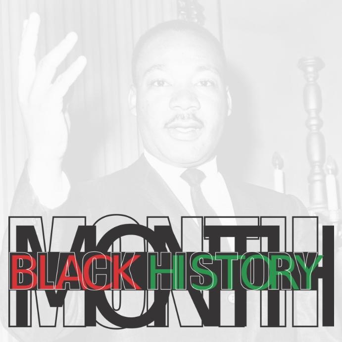 BLACK HISTORY MONTH, MARTIN LUTHER KING Publicación de Instagram template