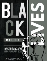 Black history month,Black lives Flyer (format US Letter) template