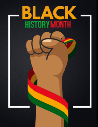 black history month,event flyers Folheto (US Letter) template