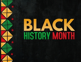 Black history month,event flyers Рекламная листовка (US Letter) template