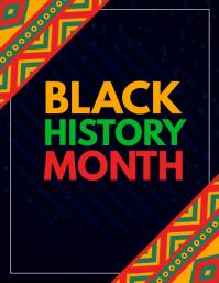 black history month,event flyers Рекламная листовка (US Letter) template
