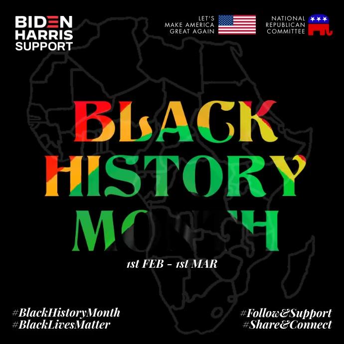 Black History Month 2021 Template Instagram-opslag
